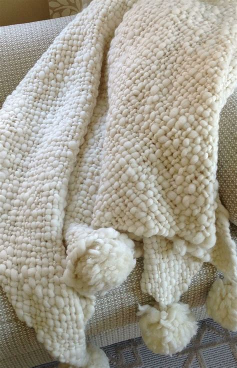 how to knit pom pom blanket the softest blanket knit argentinian wool with