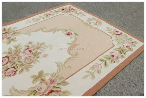 3x5 shabby french chic pink ivory aubusson area rug home decor cream carpet wool ebay