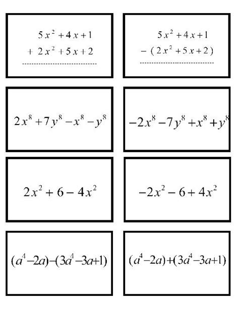 Addition And Subtraction Of Polynomials Worksheet by 10 Best Images Of Adding Polynomials Worksheet With