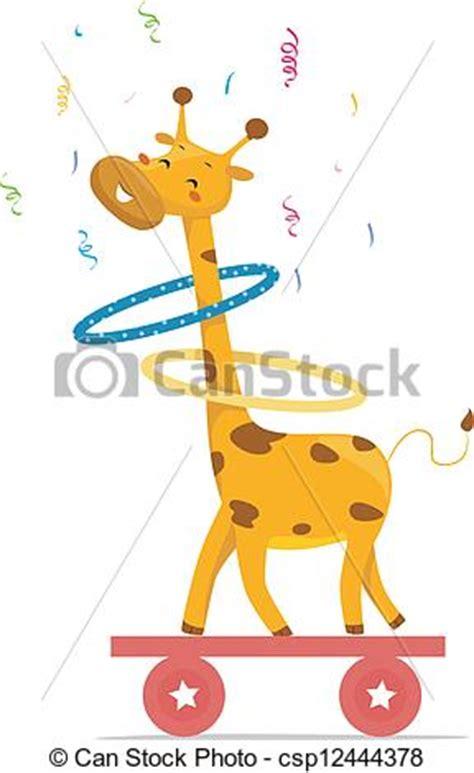 ilustraciones vectoriales de jirafa caricatura vector ilustraciones vectoriales de hula jirafa aros circo