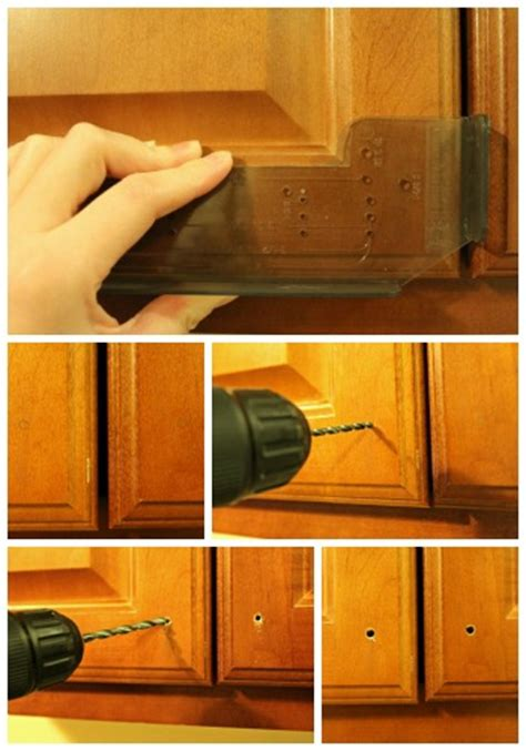 how to install handles on kitchen cabinets away she went installing kitchen cabinet hardware