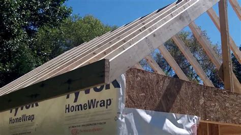 Sip Panel Homes Diy Shed Part 4a Roof Framing Youtube