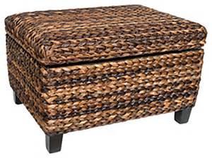 Seagrass Storage Ottoman Birdrock Home Seagrass Storage Ottoman Features Safety Hinges Espresso Style
