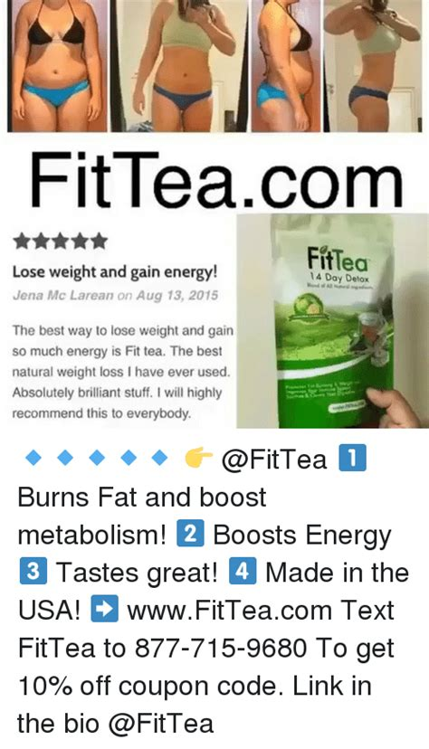 Link Detox Coupon Code by Fitteacom Fittea Lose Weight And Gain Energy Jena Mc