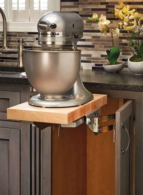 kitchen cabinet mixer lift genius kitchen organization products domestically speaking
