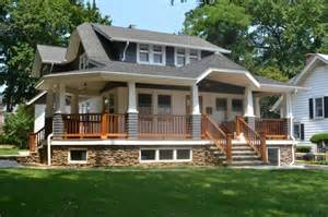 Country Style House With Wrap Around Porch North Shore Long Island Craftsman Porch New York