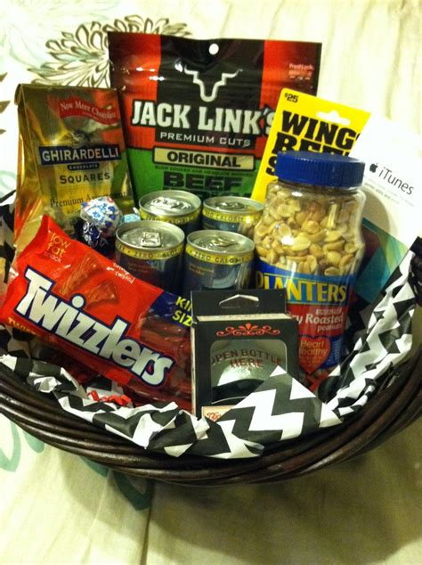 how to make a basket for him gift basket for him gift ideas