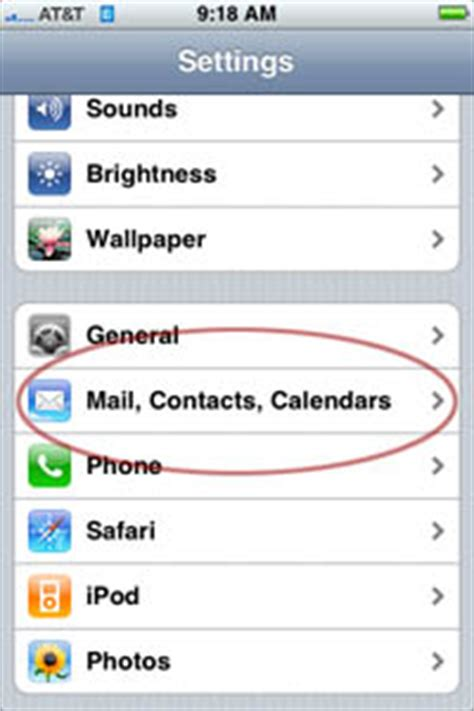 changing your e mail password on the iphone information