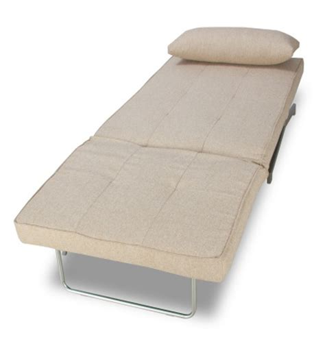 Compact And Foldable Beige Single Sofa Cum Bed By Mudra