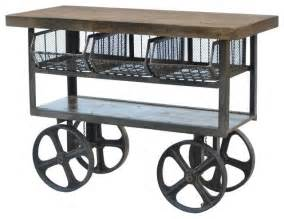 Rolling Kitchen Island Plans Industrial Iron Trolley Industrial Kitchen Islands And