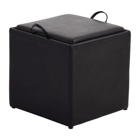 black and white ottoman black and white storage ottoman black and white storage