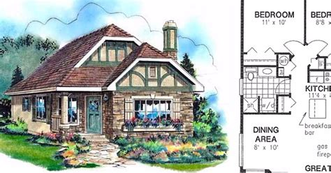 6 Tiny Tudor Home Floor Plans Small House Plans Tudor