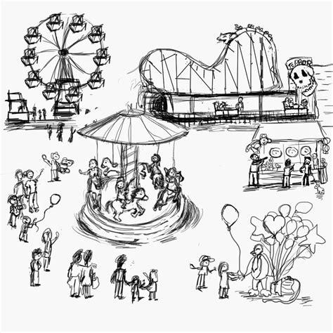 free pencil sketch up doodle theme amusement park clipart sketch pencil and in color