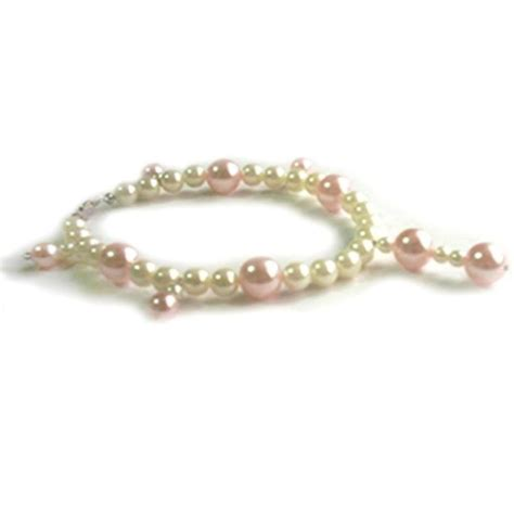 pearl dogs sacas pink white pearl necklace 3 sizes available