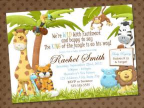 jungle theme baby shower invitation templates quotes