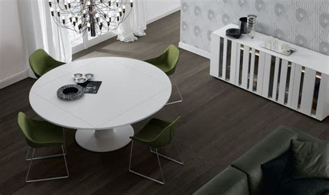tavoli di cristallo sala da pranzo tavolo rotondo allungabile per la sala da pranzo tavoli