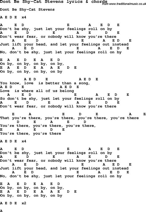 cat song lyrics song lyrics for dont be cat with chords