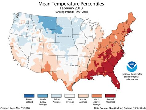 us temperature map february assessing the u s climate in february 2018 national