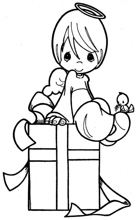 boy angel coloring page 為孩子們的著色頁 angel in a gift precious moments coloring pages