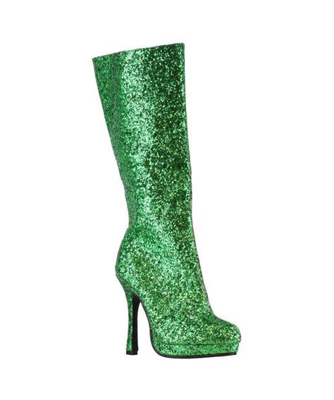 green boots green glitter boots boots