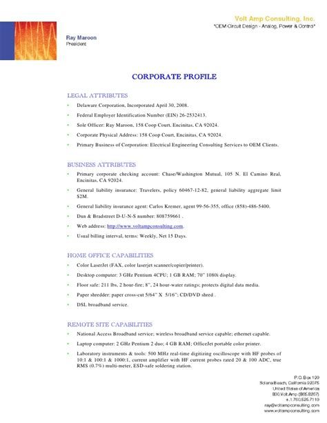 cover letter with company profile 28 images 6 company