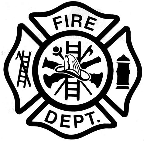firefighter badge printable clipart