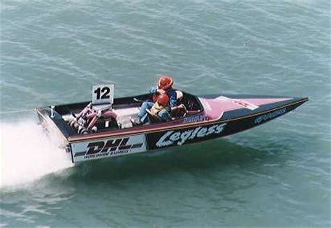 ski boat racing ray hall turbocharging legless twin turbo ski race boat