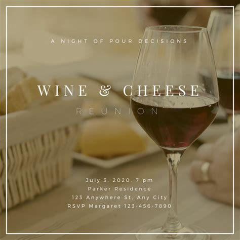 Wine And Cheese Invite Flyer Templates By Canva Wine And Cheese Invitation Template Free
