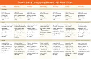 nursing home menu planning elder nutrition sunrise senior living