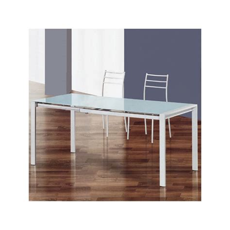 tavolo vetro bianco tavolo allungabile con piano in vetro temperato bianco