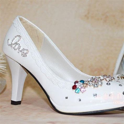 comfortable wedding dress shoes free shipping white wedding shoes woman high heel