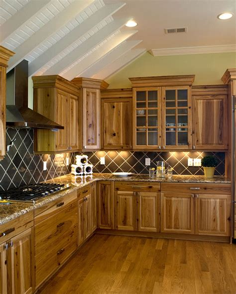 hickory wood kitchen cabinets are these the hickory cabinets or are they the rustic hickory