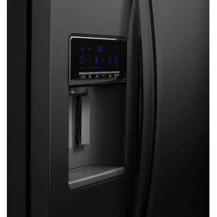 whirlpool wrs576fidb 26 cu ft side by side refrigerator w exterior controls black