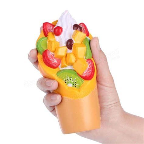 vlo squishy fruit sundae cup strawberry kiwi assorted