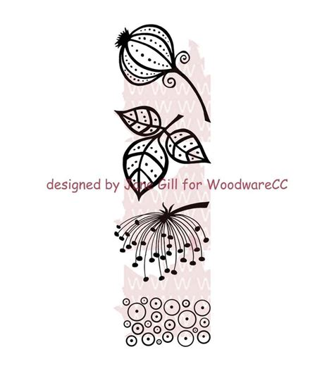 woodware doodle a flower woodware clear sts leaf quilt accessories zentangle