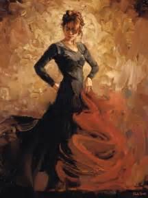 Flamenco dancer paintings flamenco dancer flamenco ii painting