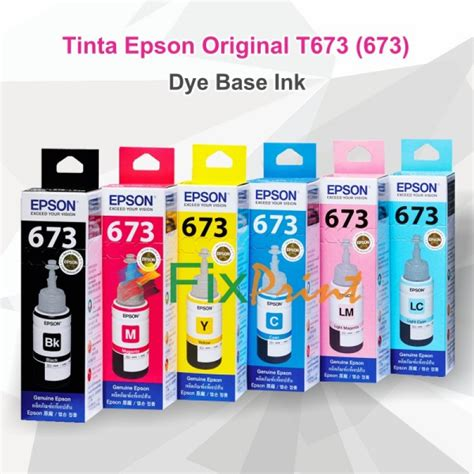 1 Set Tinta Dye Ink Korea Compatible Refill Printer Hp 100ml Cair Cmyk jual tinta epson original 673 t6733 magenta 70ml tinta refill printer epson l800 l805 l810 l850