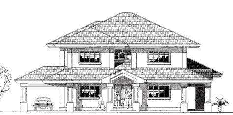 cad house civil engineering drawing house plan