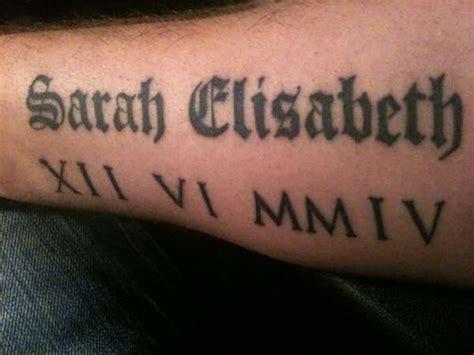 tattoo font roman roman numeral tattoos