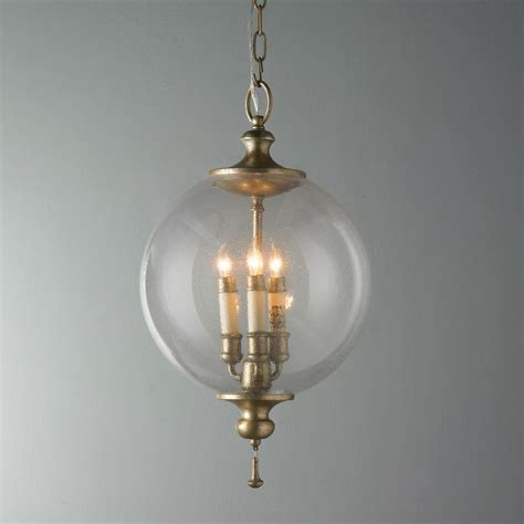 Clear Glass Globe Pendant Light Clear Glass Globe Pendant