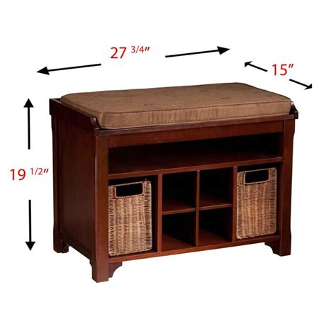 Southern Enterprises Flynn Shoe Storage Bench In Espresso Bc2724
