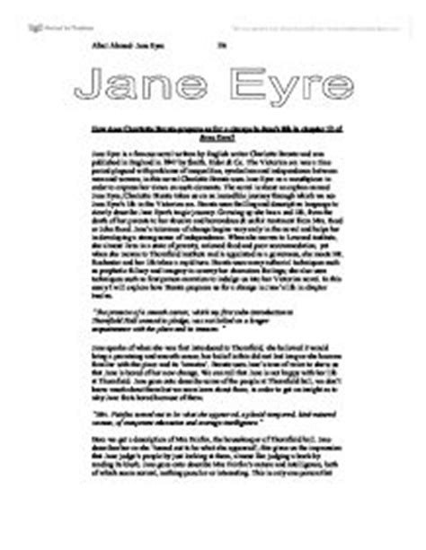 analysis jane eyre chapter 2 how does charlotte bronte prepare us for a change in jane