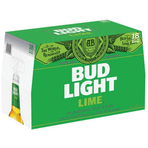 18 pack of bud light bud light lime beer 12 fl oz 18 pack beverages