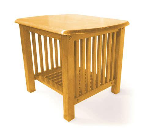 oak end table mission golden oak end table