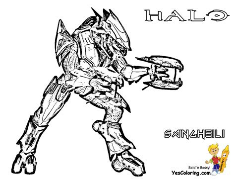 Halo 5 Coloring Pages by Fierce Halo Coloring Pages Halo 5 Coloring Free