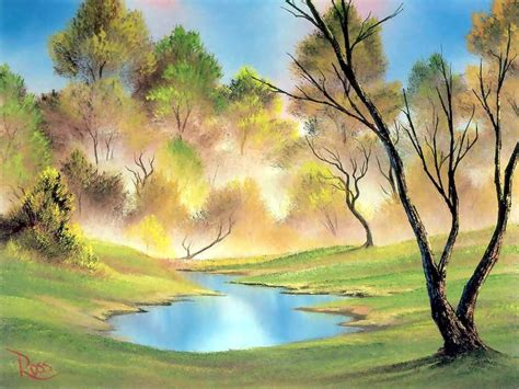 bob ross yellow painting bob ross landscape painting bob ross