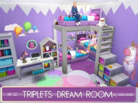 sims 4 kinderzimmer mobel akisima sims triplets room no cc sims 4