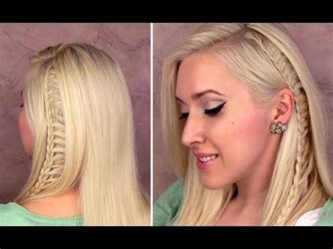 ladder braid tutorial everyday school hairstyle for medium hair alltags frisuren mit z 246 pfen