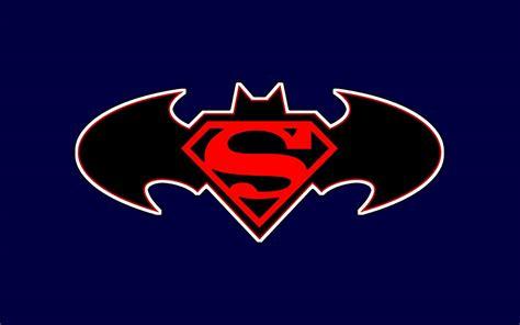 wallpaper batman and superman superman and batman logo wallpapers wallpaper cave