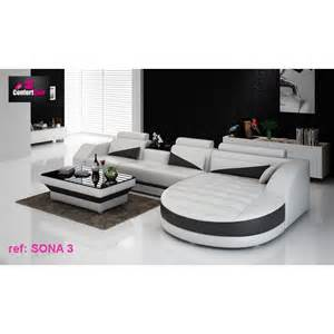 canap 233 d angle design sona 3 confort cuir